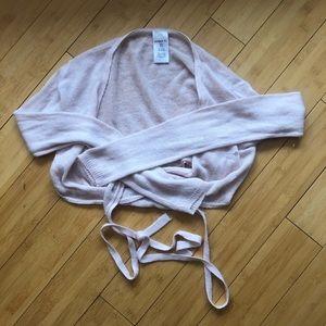 Danskin Classic Ballet Pink Knit Wrap Sweater